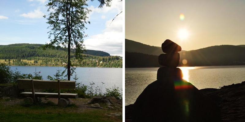 Am Schluchsee lassen wir den schönen Tag ausklingen.
