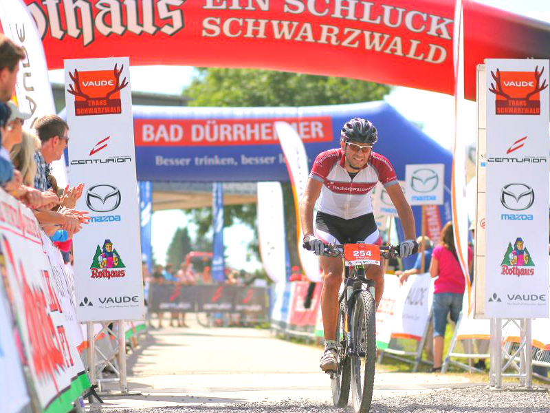 Matthias ist für das Team Hochschwarzwald die VAUDE Trans Schwarzwald 2013 gestartet.