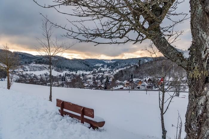 Blick Strohberg auf Lenzkirch