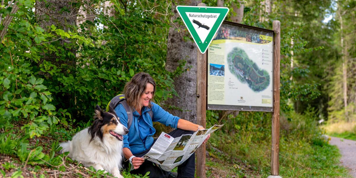 Wanderin mit Hund