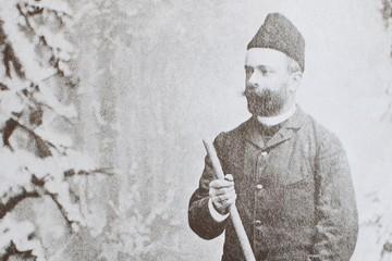 Der erste Skiläufer auf dem Feldberg