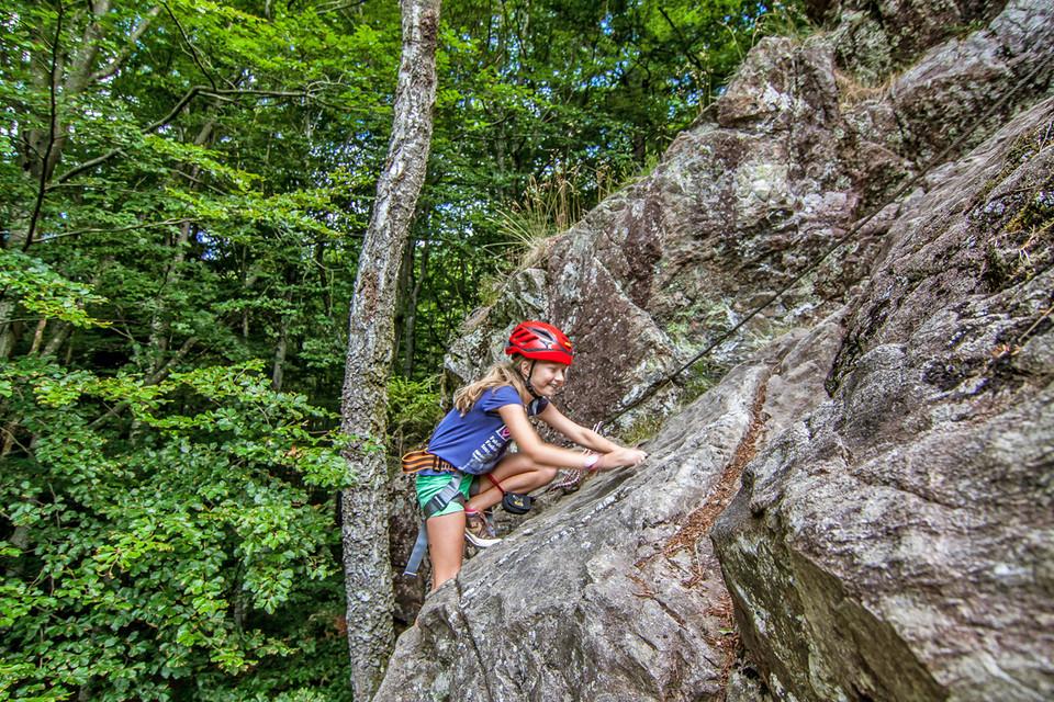 """""""Die Besonderheit unseres Klettersteigs ist, dass man ihn freikletternd begeht"""", sagt Herbert."""