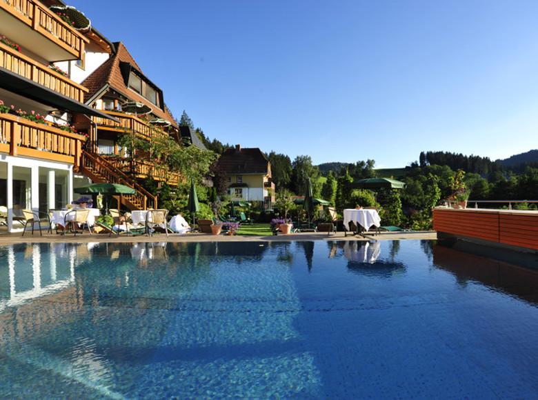 Schwimmbecken von Erfuhrths-Bergfried Wellnesshotel