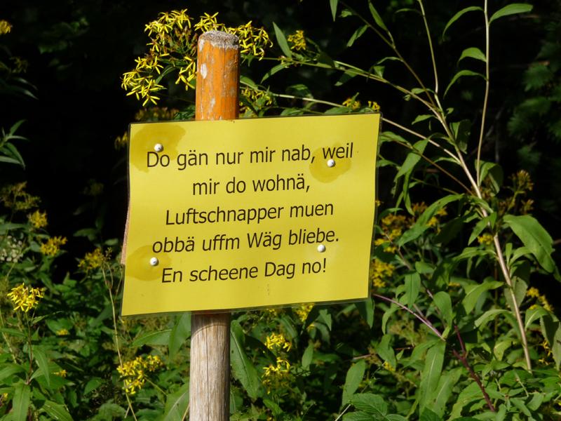 Das Schild ist nur für echte Schwarzwälder