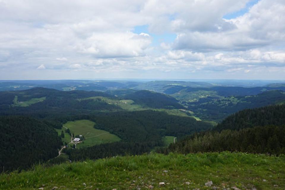 Die Vesperpause vor Augen und belohnt durch die Aussicht schaffe ich es dann doch frohen Mutes auf den Gipfel und bin echt stolz!