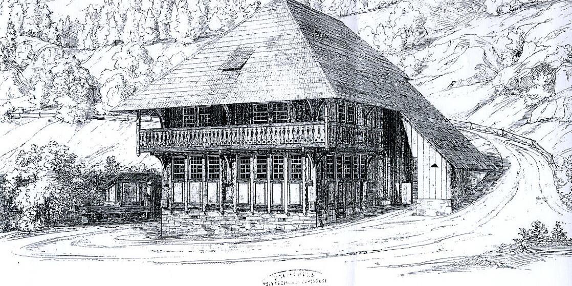 Die Lawine überraschte die Familie in der Nacht und begrub den Königenhof im Wagnerstal.