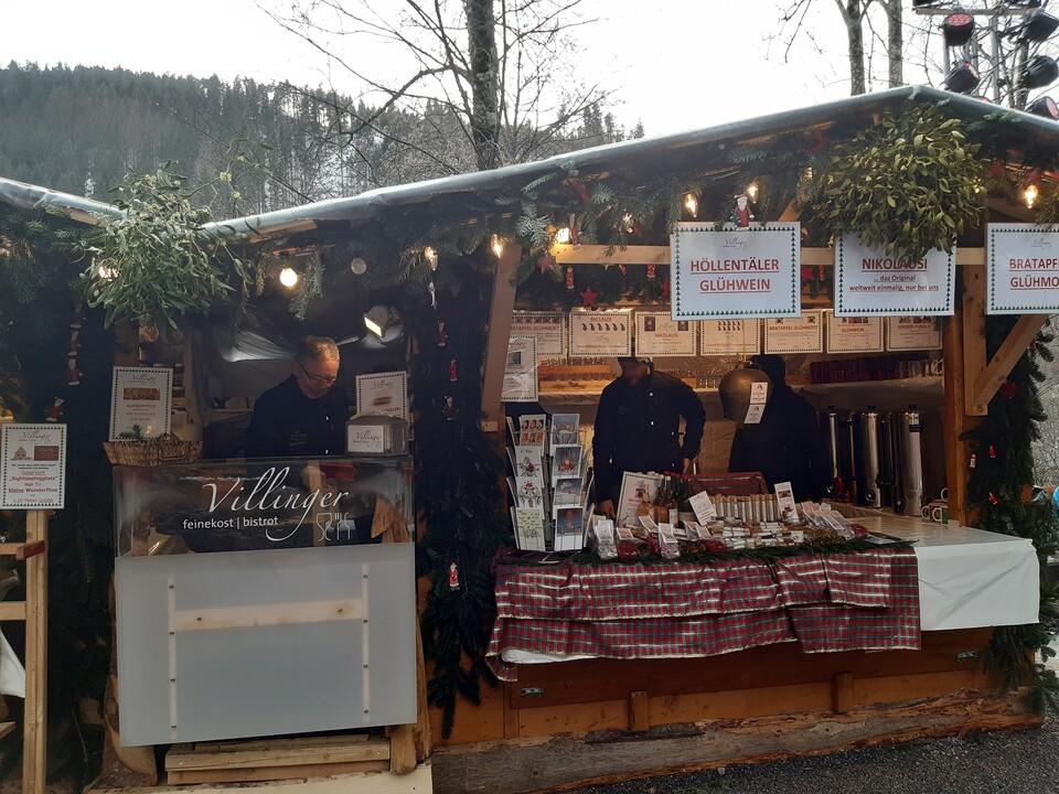 Stand Weihnachtsmarkt Ravennaschlucht