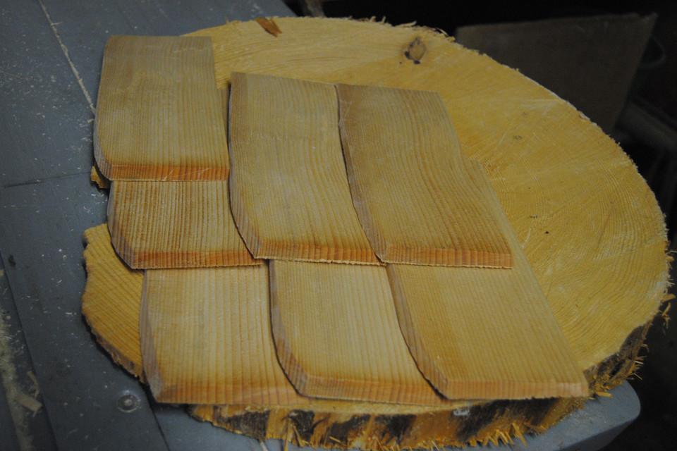 Muster von Holzschindeln
