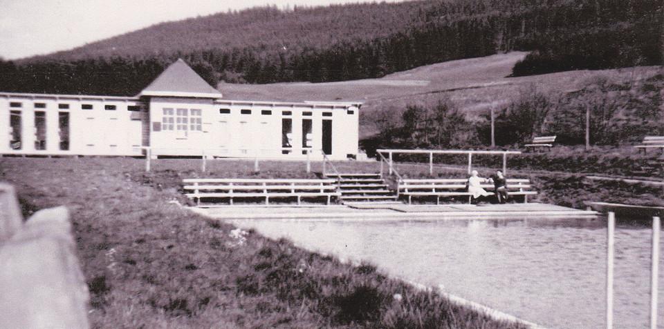 Freibad Kappel vor 70 Jahren