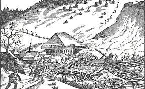 Die Lawine zerstörte den prächtigen Königenhof komplett und begrub seine Bewohner unter den Schneemassen.