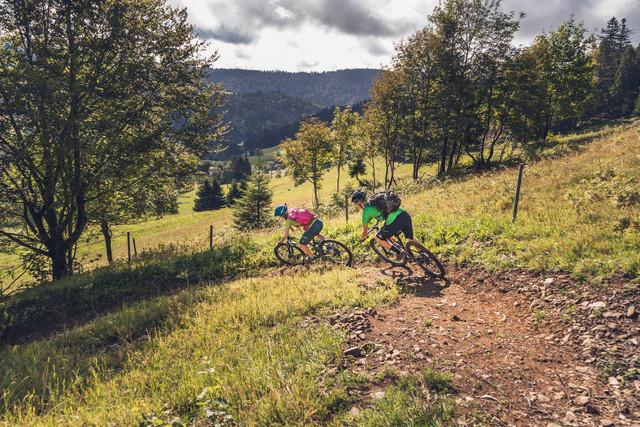 Steile Kurve im Todtmoos Trail