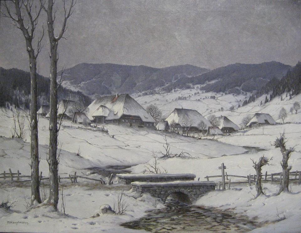 Schwarzwaldhöfe zählten zu den liebsten Motiven von Karl Hauptmann