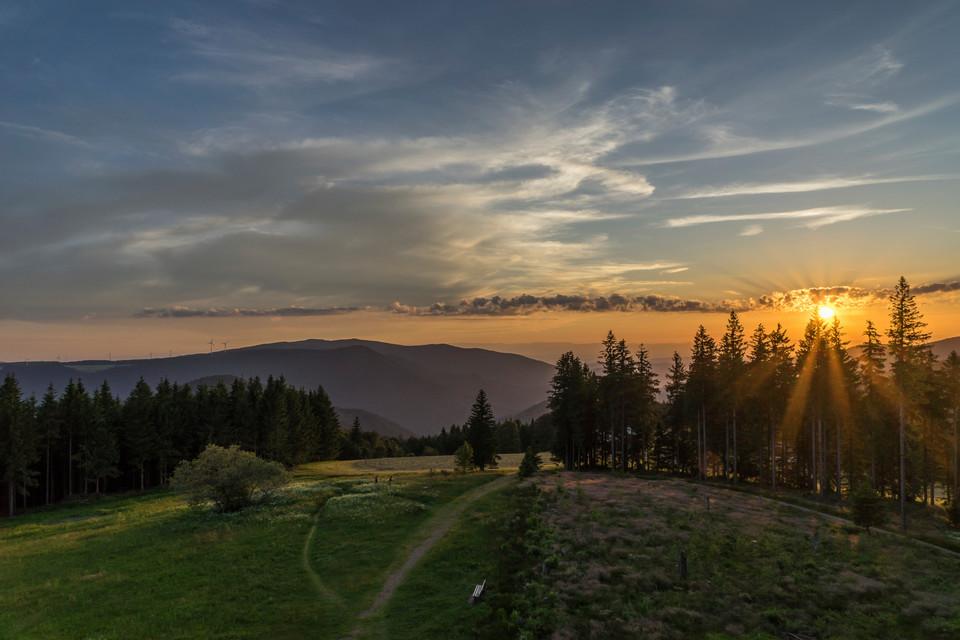 Hochschwarzwälder Sonnenplätze Sonnenuntergang auf dem Brend