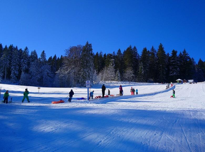 Rodeln am Skilift Kalte Herberge.