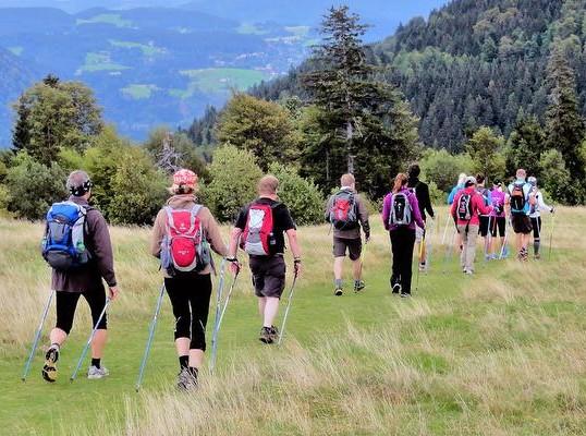 Zusammen lässt sich vieles bestreiten, auch ein Wandermarathon.