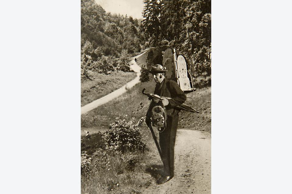 Die Händler waren meist zu Fuß unterwegs und trugen ihre Ware auf dem Rücken