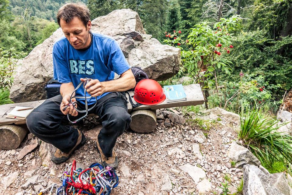 Sven ist erfahrener Kletterer.