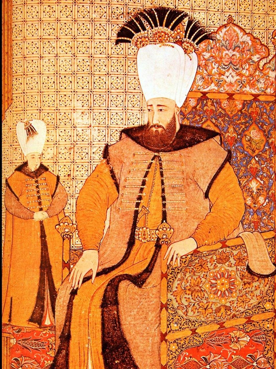 Eine ganz andere Welt erwartete Matthias Faller in der Großstadt Konstantinopel, wo der Sultan ihm Zutritt zum Palast gewährte. Dieses Bild zeigt einen Herrscher aus dem Orient.