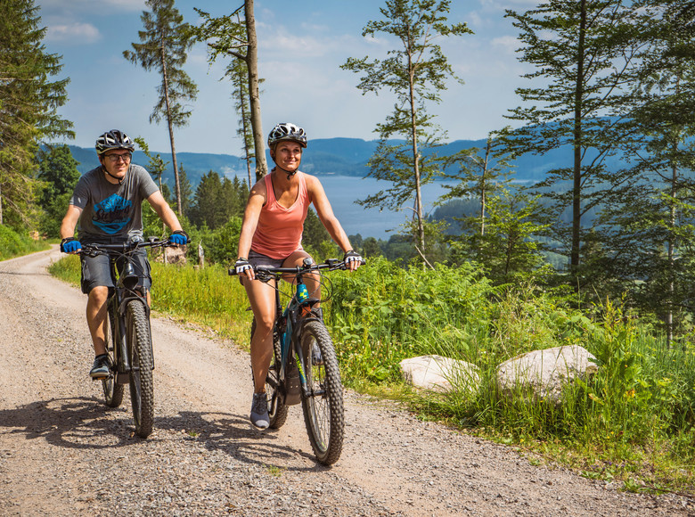 Mountainbiker auf dem Seenradweg