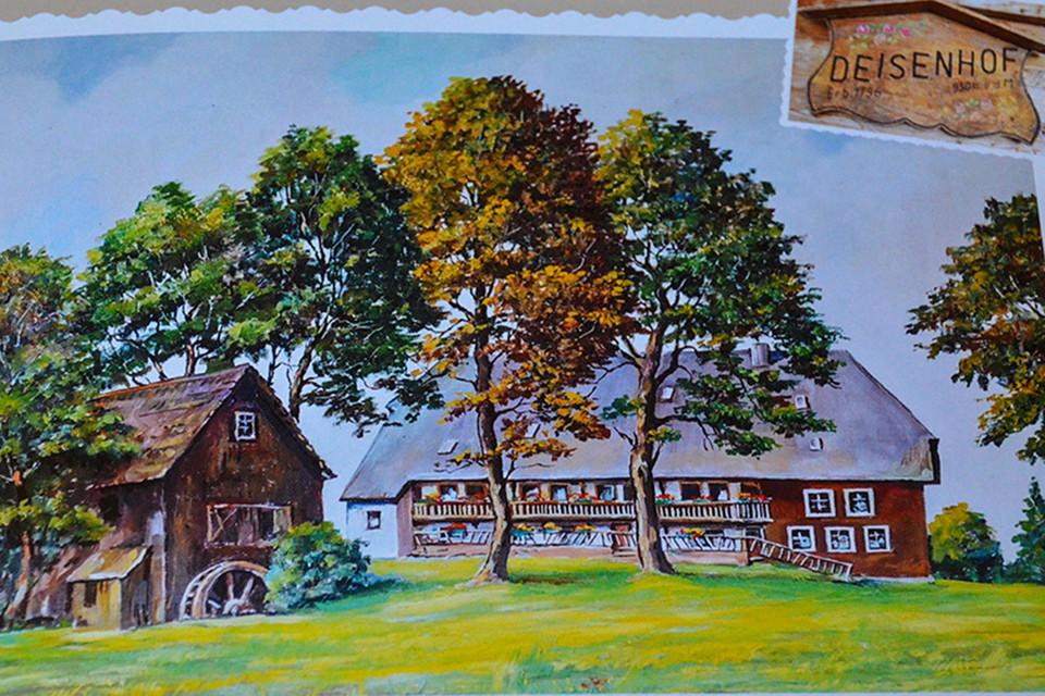Ein Bild aus dem Fotobuch eines Gastes zeigt, wie der Deisenhof früher einmal ausgesehen hat.