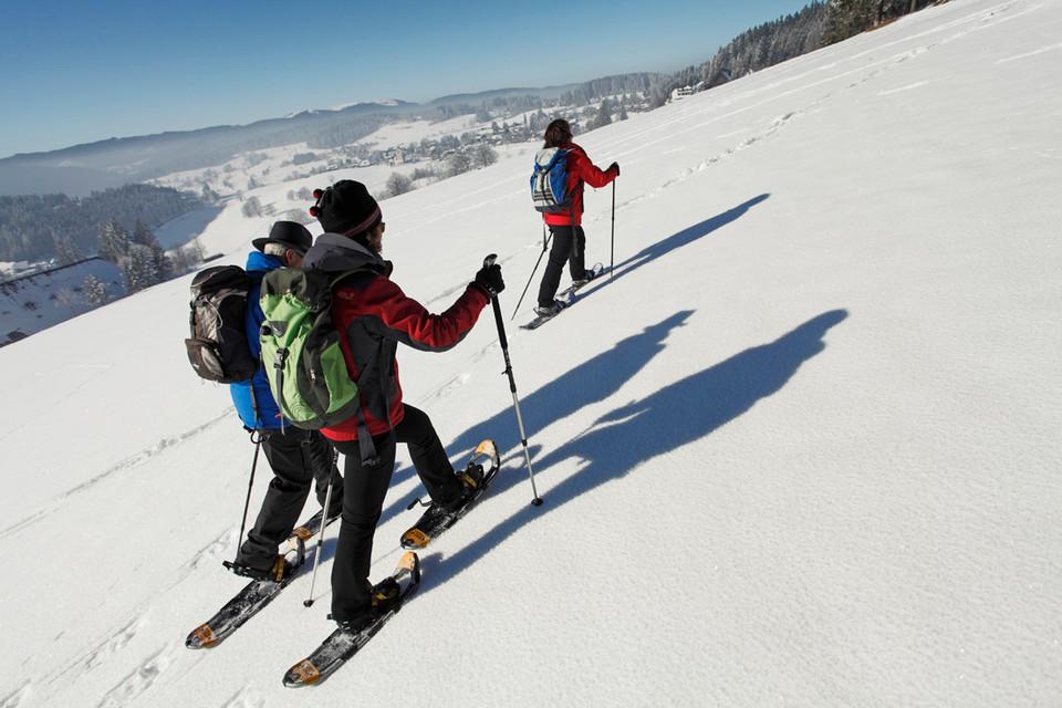 Wichtig beim Schneeschuhwandern ist die Nutzung der ausgewiesenen Schneeschuhtrails.