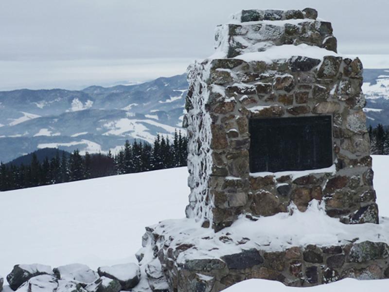 Einer der vier Gipfel, der Hinterwaldkopf.