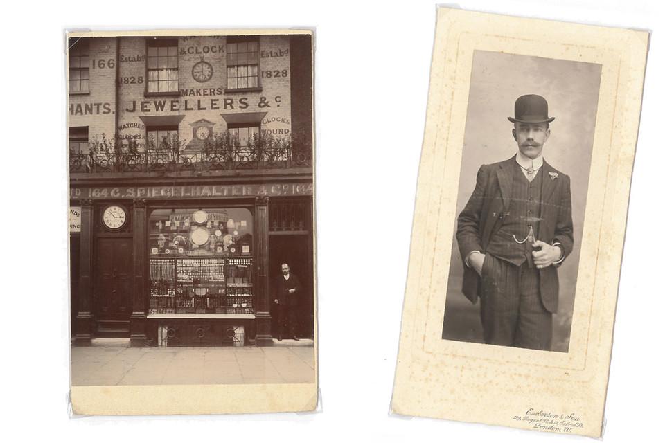 Links: Uhrengeschäft Spiegelhalter, rechts: Josef Weber, St. Märgen