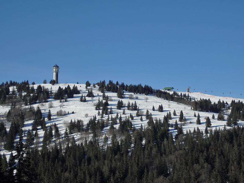 Wir schnallten uns die Ski unter und dann ging es ab auf die Piste.