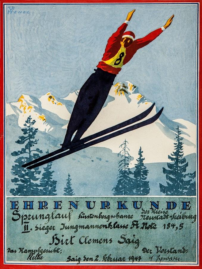 Auch Clemens Hirt war erfolgreicher Skispringer.