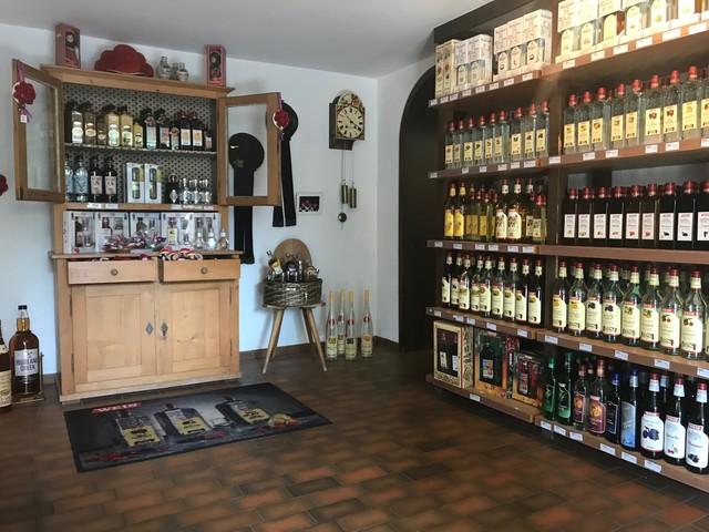 Verkaufsraum in der Elztalbrennerei
