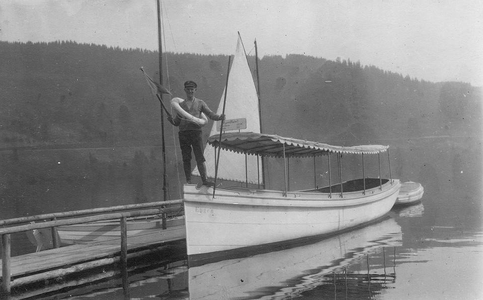 Lorenz Winterhalder auf dem Schiff Eugen