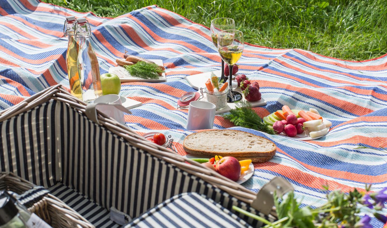 Picknickdecke mit Leckereien