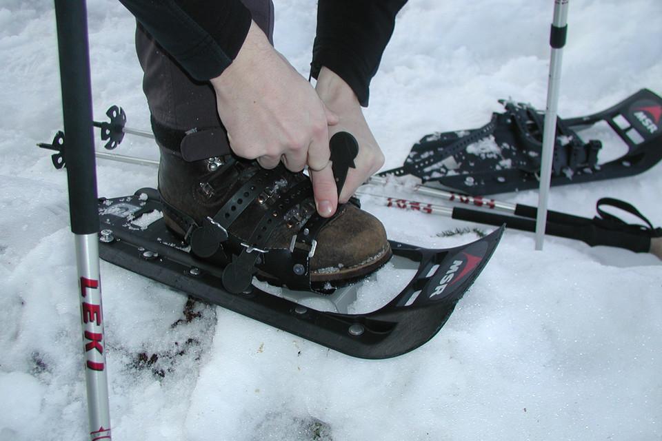 Keine Chance ohne Schneeschuhe oder Langlaufskier