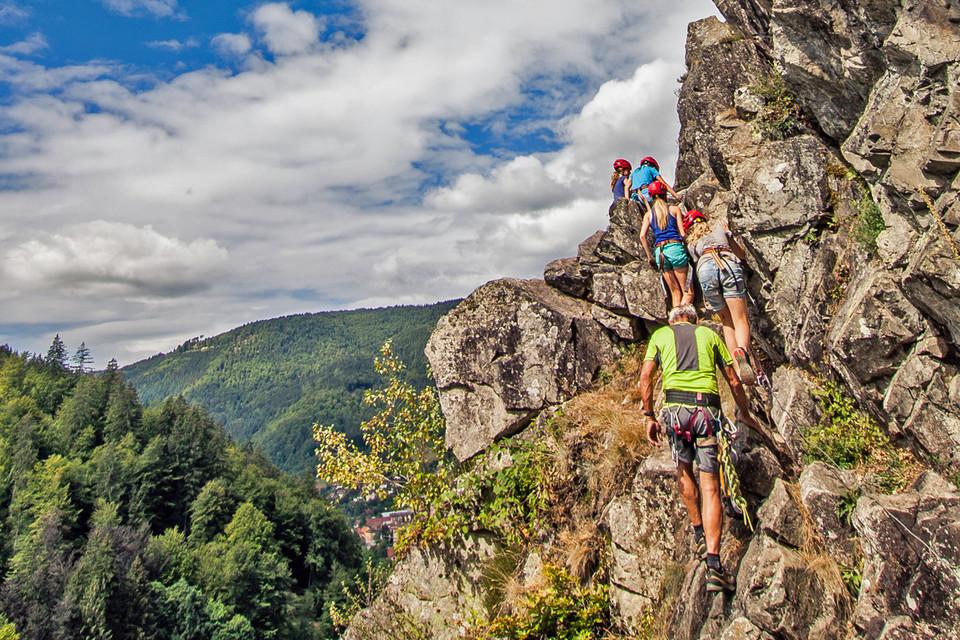 Klettern: Die beste Möglichkeit, Luft unter den Füßen zu spüren!