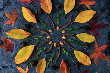 Herbstliches Naturmandala
