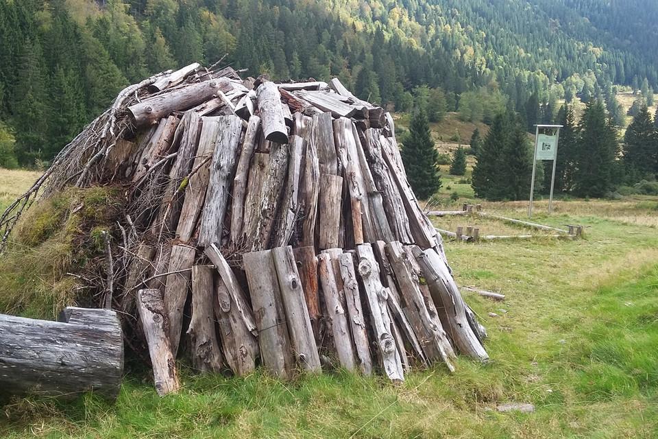 In Kohlemeilern wie diesem bei Menzenschwand wurde aus Buchenholz Holzkohle hergestellt.