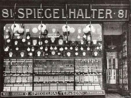 Der Uhrenladen der Spiegelhalters in London