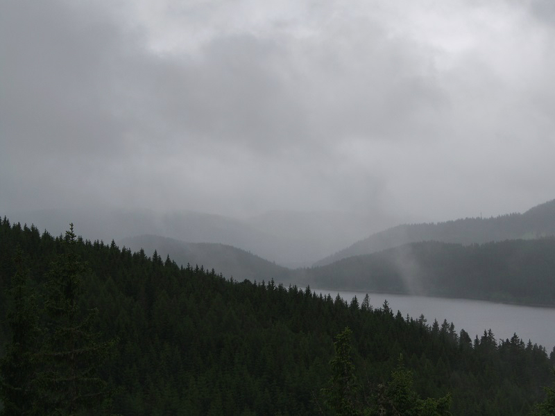 Wie angekündigt, regnete es leider den ganzen Tag.