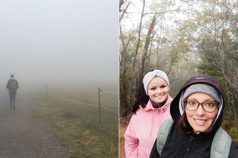 Trotz Nebel lassen wir uns nicht unterkriegen.
