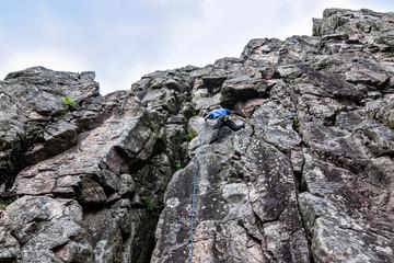 Kletteranfänger am Kandelfelsen