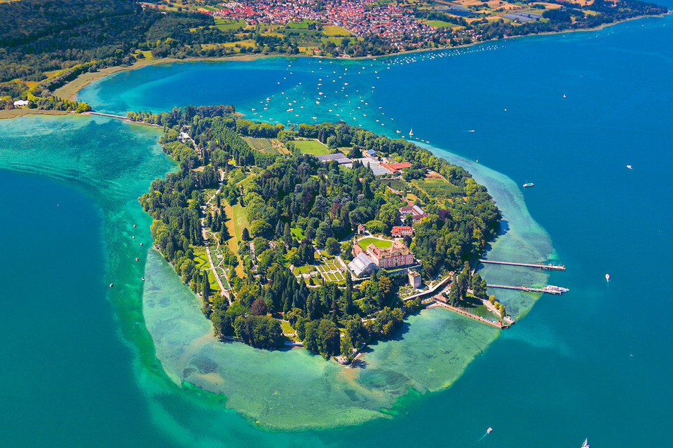 Insel-Mainau-Luftaufnahme