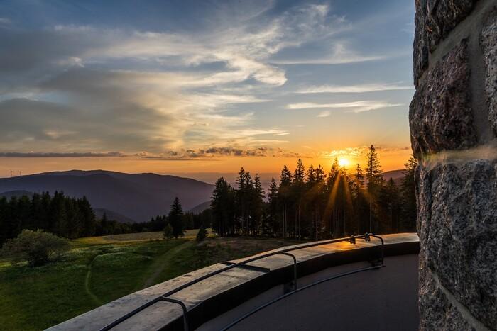 Aussicht vom Brend bei Sonnenuntergang