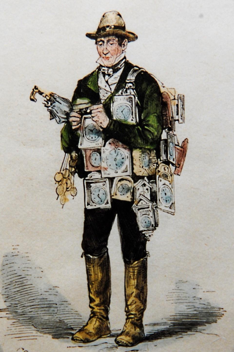 Der Uhrenhändler Mathias Faller verkaufte sogar im Orient seine Uhren erfolgreich