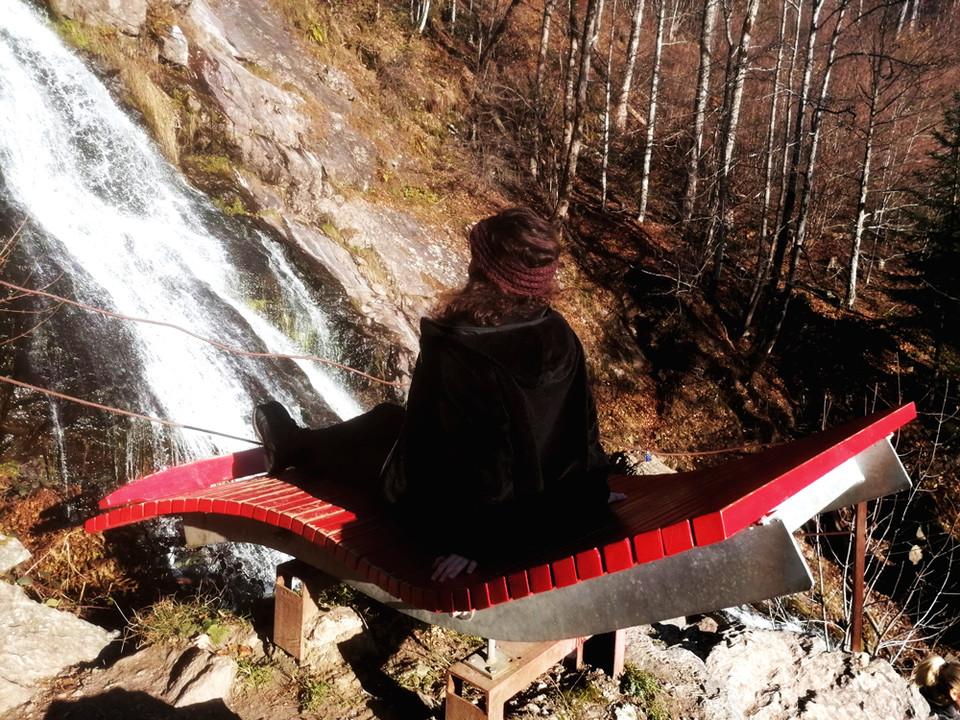 Liege am Todtnauer Wasserfall