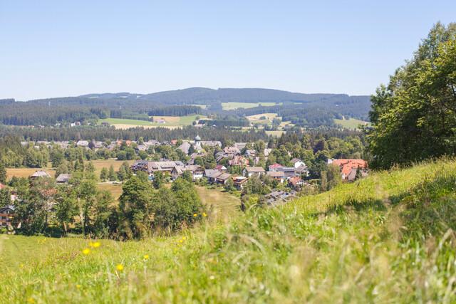 Hochschwarzwälder Sonnenplätze Blick auf Hinterzarten