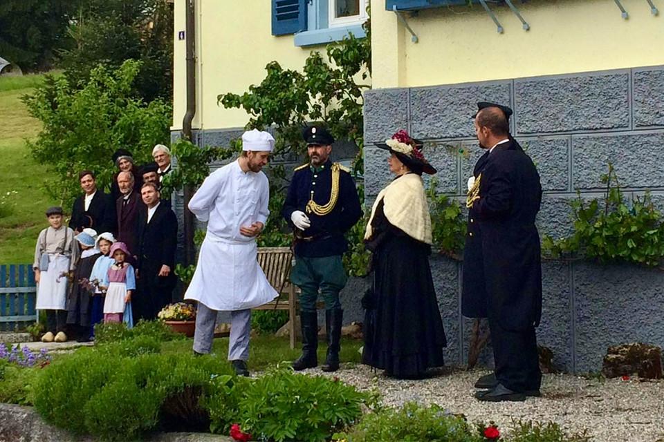 Anlässlich des 1200-jährigen Jubiläums der Stadt Ühlingen wurde 2016 ein Freilichttheater aufgeführt in dem auch Daniel Frech mitspielte.