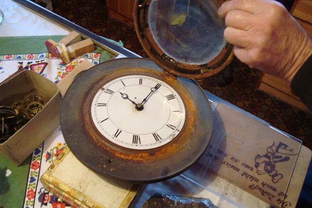 Herdplatte, Bremsscheibe - und jetzt eine Uhr!