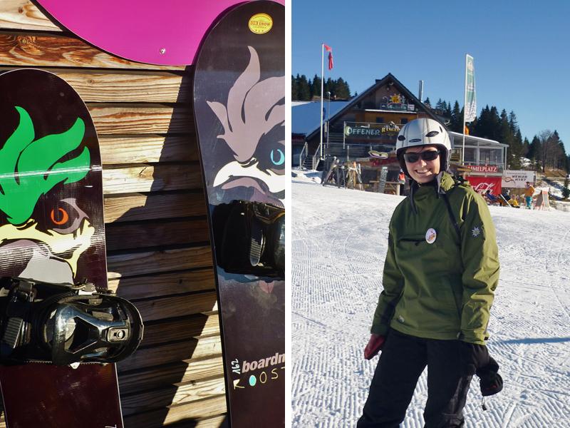 Bisher war mein Leben als Snowboarderin nur halb professionell und das möchte ich durch den heutigen Kurs endlich ändern.