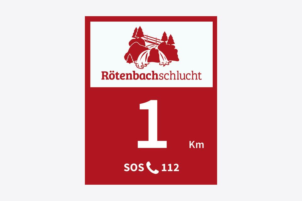 Wegebeschreibung Genießerpfad Rötenbachschlucht