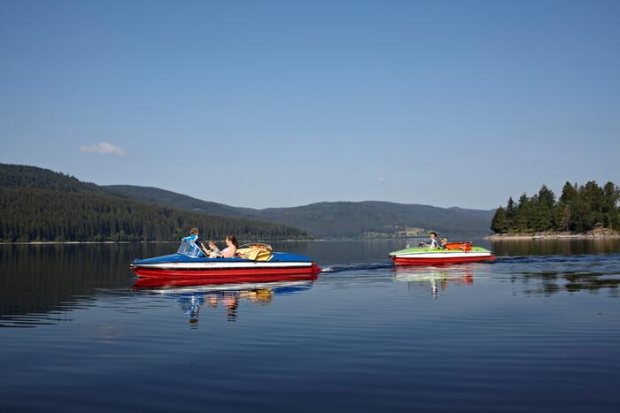 Tretbootfahren auf dem Schluchsee